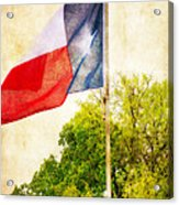 The Lone Star Flag Acrylic Print