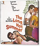 The Long, Hot Summer, Us Poster Acrylic Print