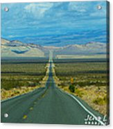 The Long Road Through Death Valley Acrylic Print