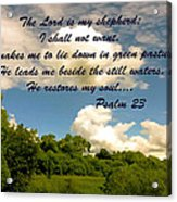 The Lord Is My Shepard Acrylic Print
