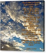 The Lords Prayer Acrylic Print by Glenn McCarthy Art and Photography