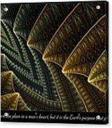 The Lord's Purpose Acrylic Print