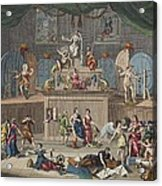 The Lottery, Illustration From Hogarth Acrylic Print
