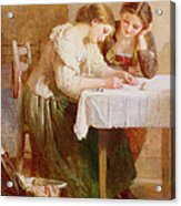 The Love Letter, 1871 Acrylic Print