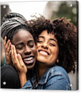 The Love Of Best Friends Acrylic Print