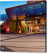 The Lowry Complex At Dusk, Salford Acrylic Print