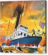 The 'madmen' Of The Mississippi Acrylic Print by English School