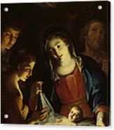 The Madonna Adoring The Infant Christ Acrylic Print