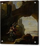 The Magdalen In A Cave Acrylic Print