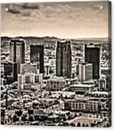 The Magic City Sepia Acrylic Print