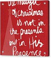 The Magic Of Christmas- Greeting Card Acrylic Print