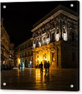 The Magical Duomo Square In Ortygia Syracuse Sicily Acrylic Print