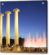 The Magical Fountain In Barcelona Acrylic Print