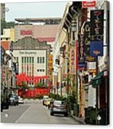 The Majestic Theater Chinatown Singapore Acrylic Print