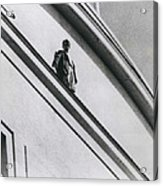 The Man In Love Is Saved From A Parapet Acrylic Print