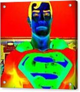The Man Of Steel Acrylic Print