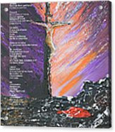 The Man On The Cross With Poem Acrylic Print