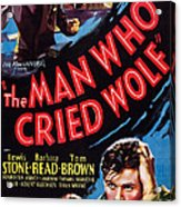 The Man Who Cried Wolf, Us Poster Acrylic Print