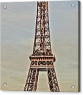 The Many Faces Of The Eiffel Tower In Paris France Acrylic Print