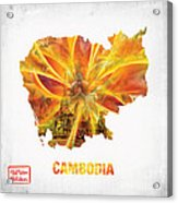 The Map Of Cambodia Acrylic Print