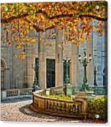 The Marble House In Autumn Acrylic Print