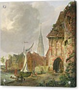 The March Gate In Buxtehude Acrylic Print by Adolph Kiste