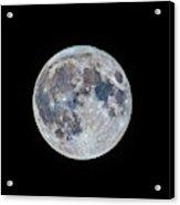 The March Mini-moon Acrylic Print
