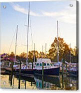 The Marina At St Michael's Maryland Acrylic Print by Bill Cannon