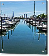 The Marina At The Golden Nugget Acrylic Print by Tom Gari Gallery-Three-Photography