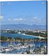 The Marina At Waikiki Acrylic Print