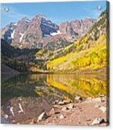 The Maroon Bells Near Aspen Colorado Acrylic Print