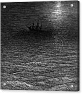 The Marooned Ship In A Moonlit Sea Acrylic Print