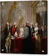 The Marriage Of The Duke And Duchess Of York Acrylic Print by Henry Singleton
