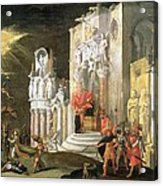 The Martyrdom Of St. Catherine, 17th Acrylic Print