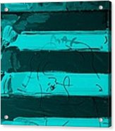 The Max Face In Turquois Acrylic Print