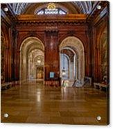 The Mcgraw Rotunda At The New York Public Library Acrylic Print