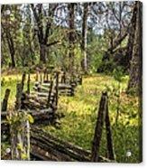 The Meadow Fence Acrylic Print
