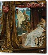 The Meeting Of Antony And Cleopatra  41 Bc Acrylic Print