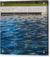 The Memorial Fountain Acrylic Print
