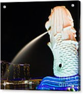 The Merlion - Singapore Acrylic Print by Pete Reynolds