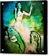 The Mermaid Mirror Acrylic Print