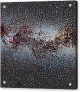 The Milky Way From Scorpio And Antares To Perseus Acrylic Print by Guido Montanes Castillo