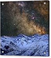 The Milky Way Over The High Mountains Acrylic Print