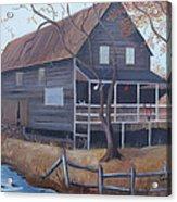 The Mill Acrylic Print by Glenda Barrett