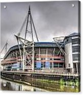 The Millennium Stadium With Flag Acrylic Print