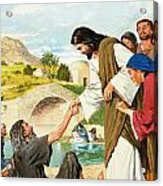 The Miracles Of Jesus  Making The Lame Man Walk Acrylic Print