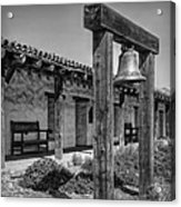 The Mission Bell B/w Acrylic Print
