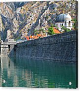 The Moat Of Kotor Acrylic Print