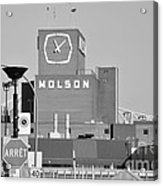 The Molson Clock Montreal Acrylic Print by Reb Frost