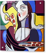 The Mona Pizza Acrylic Print